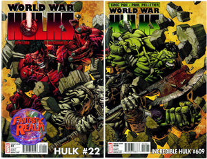 INCREDIBLE HULK #609 & HULK #22 DAVID FINCH VARIANTS (2010)  MARVEL COMICS