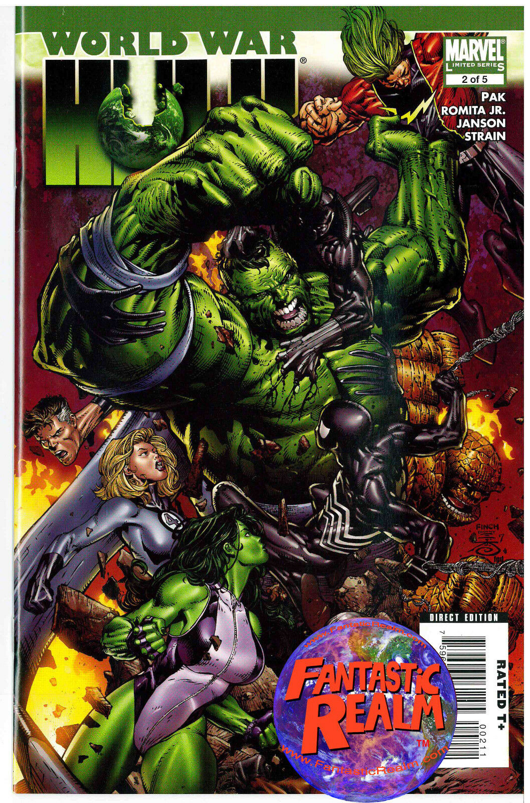 WORLD WAR HULK LIMITED SERIES 2 of 5 (SHE HULK & SPIDER-MAN) MARVEL COMICS
