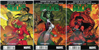 SAVAGE SHE-HULKS: FALL OF THE HULKS #1, 2 & 3 J. SCOTT CAMPBELL COVERS