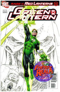 GREEN LANTERN #36 2ND PRINT PARTIAL SKETCH VARIANT DC COMICS