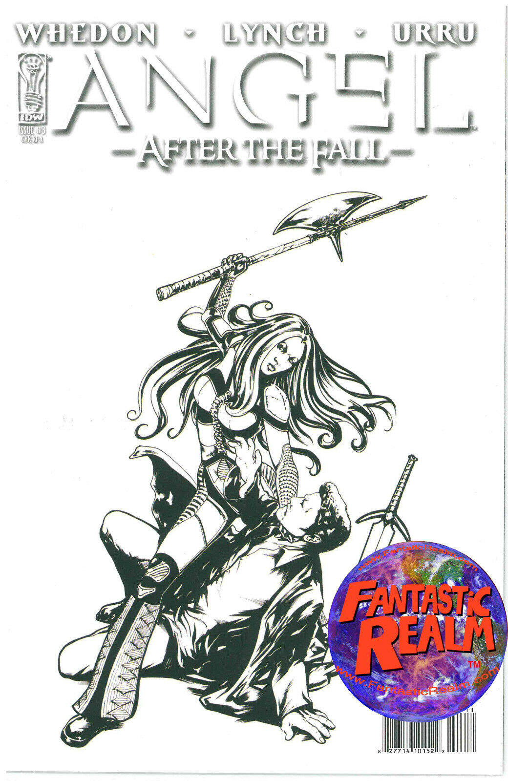ANGEL #3: AFTER THE FALL FRANCO B & W SKETCH VARIANT COVER IDW COMICS