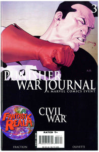 PUNISHER WAR JOURNAL #3, 4, 5, 6 & 7A (CAPTAIN AMERICA VARIANT COVER) MARVEL