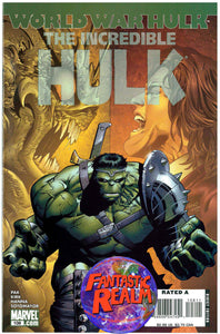INCREDIBLE HULK #108 WORLD WAR HULK MARVEL COMICS