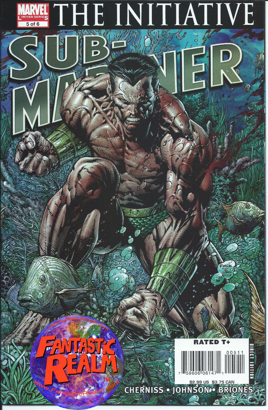 SUB-MARINER: THE INITIATIVE 5 OF 6 FINCH COVER MARVEL COMICS