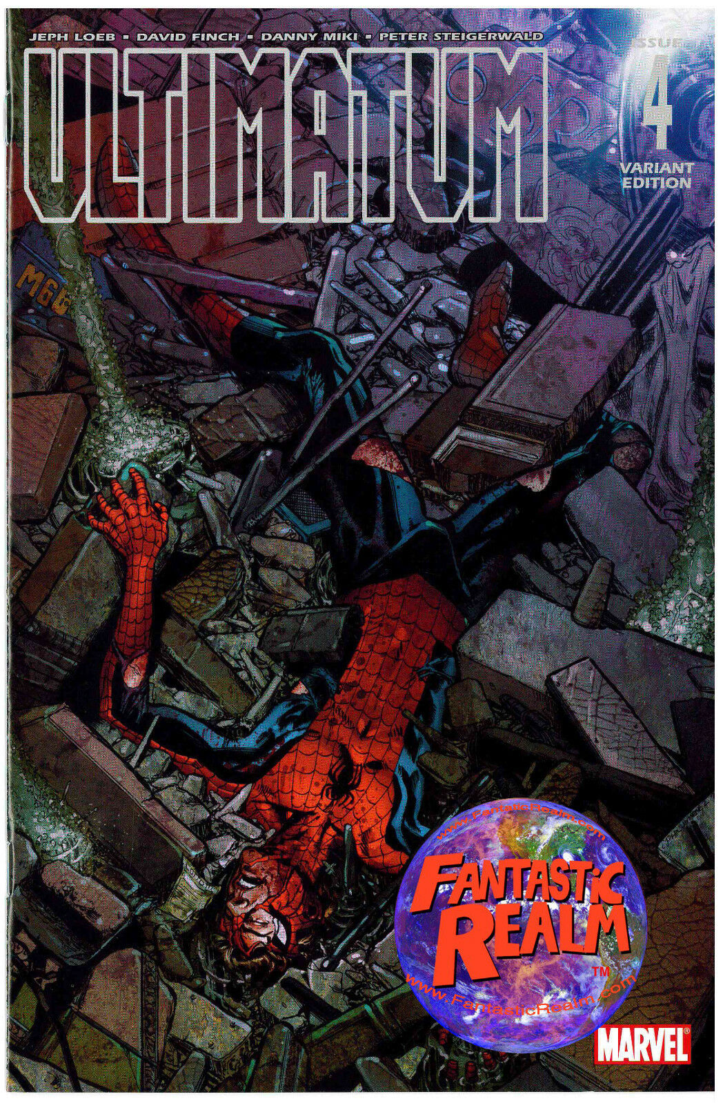 ULTIMATUM #4 SPIDERMAN VARIANT MARVEL COMICS