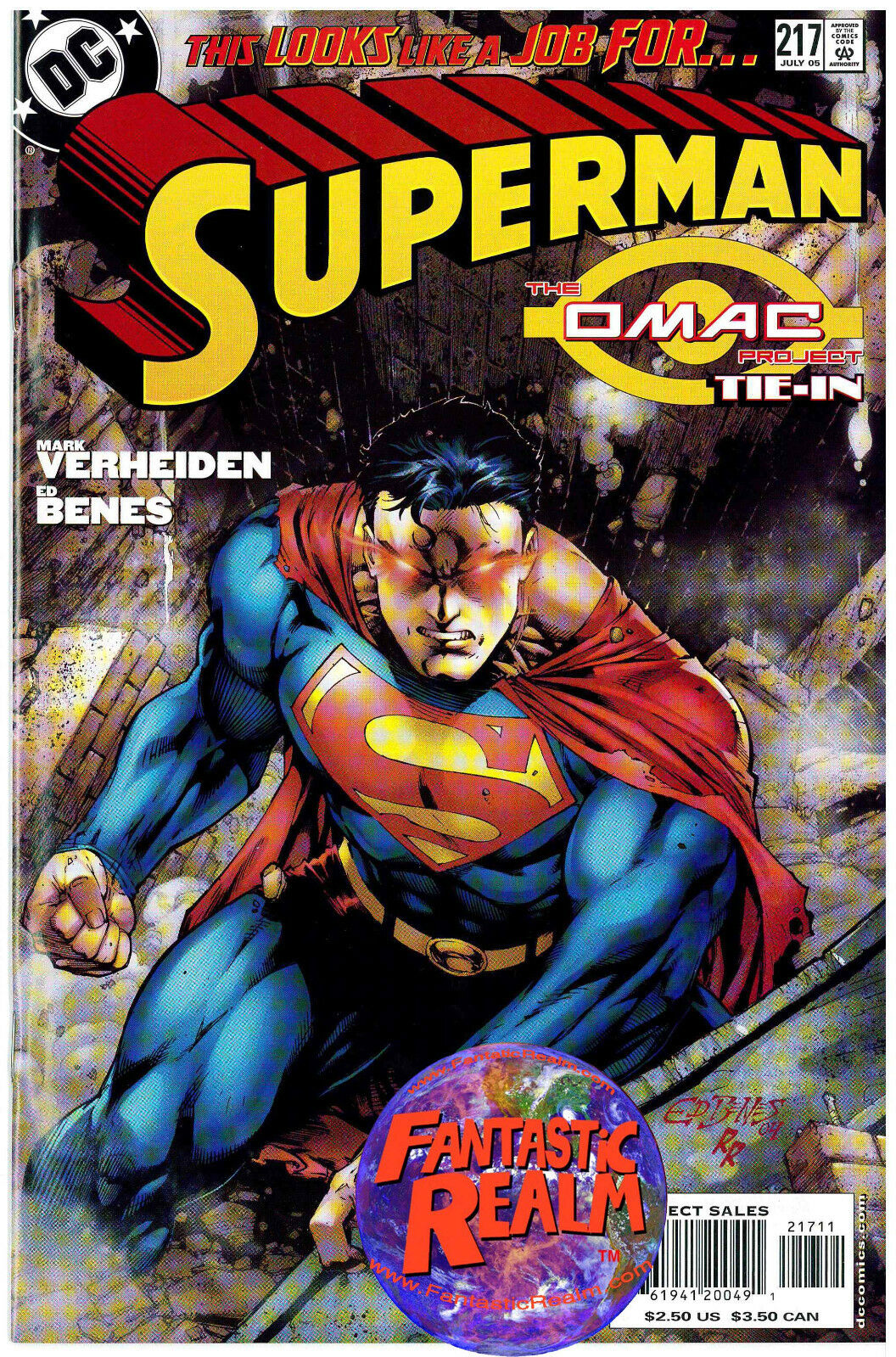 SUPERMAN #217, 219 & 642 THE OMAC PROJECT TIE-IN DC COMICS