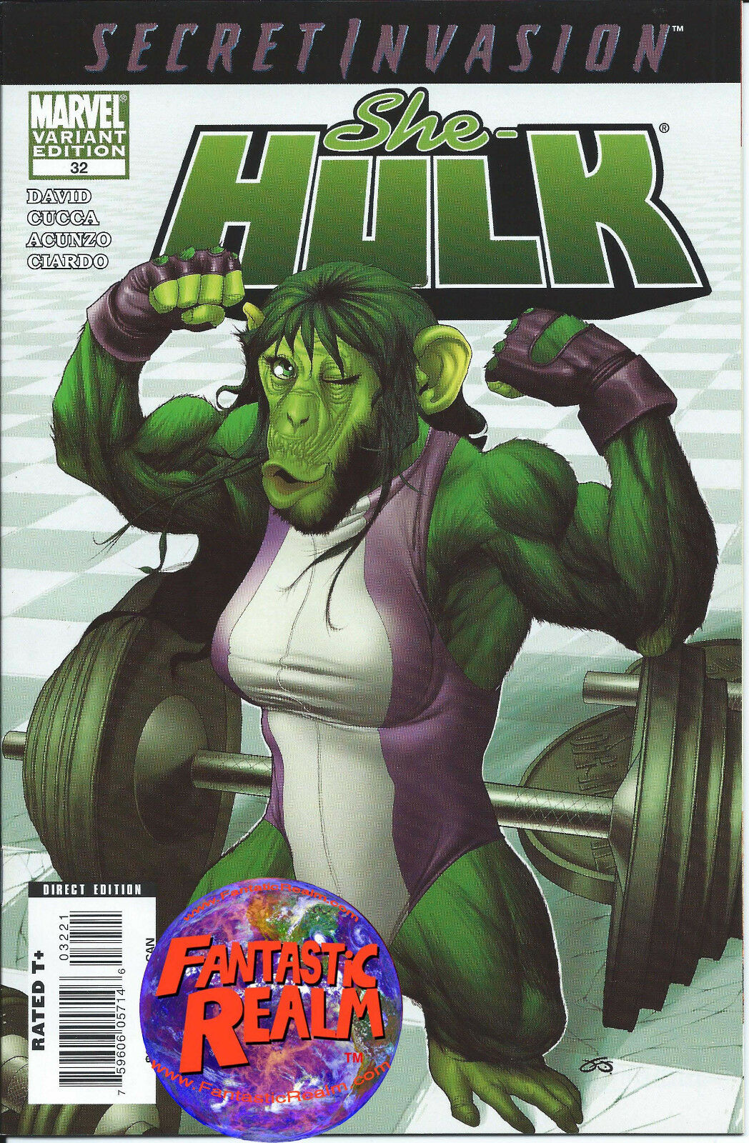SECRET INVASION SHE HULK #32 FRANK CHO 1:10 MONKEY VARIANT MARVEL COMICS