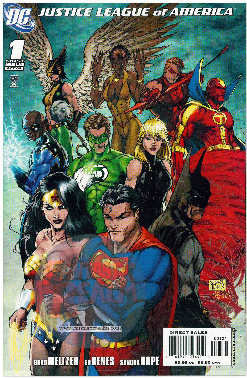 JUSTICE LEAGUE OF AMERICA #1 & SKETCH VARIANT MICHAEL TURNER VARIANT DC COMICS