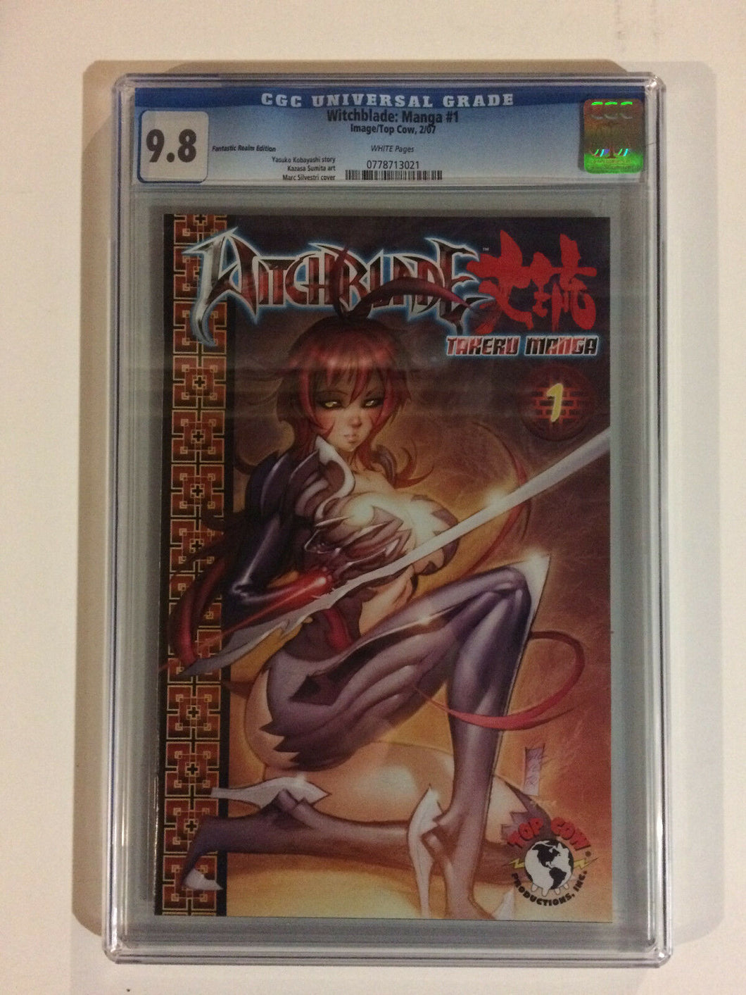 WITCHBLADE: MANGA #1 CGC 9.8 (2007) IMAGE TOP COW FANTASTIC REALM VARIANT