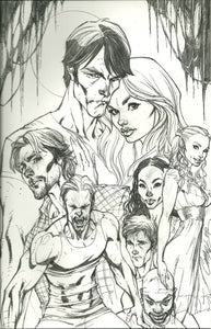 TRUE BLOOD #1 J SCOTT CAMPBELL SKETCH VARIANT IDW COMICS