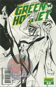 GREEN HORNET 1 DYNAMITE B&W 1:50 SKETCH VARIANT KEVIN SMITH CAMPBELL