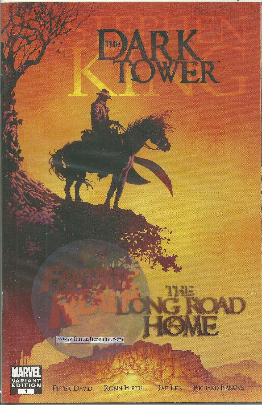 The Dark Tower: THE LONG ROAD HOME #1 (2007) VARIANT Stephen King