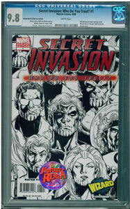 SECRET INVASION: WHO DO YOU TRUST? #1 WIZARD WORLD SKETCH VARIANT CGC 9.8