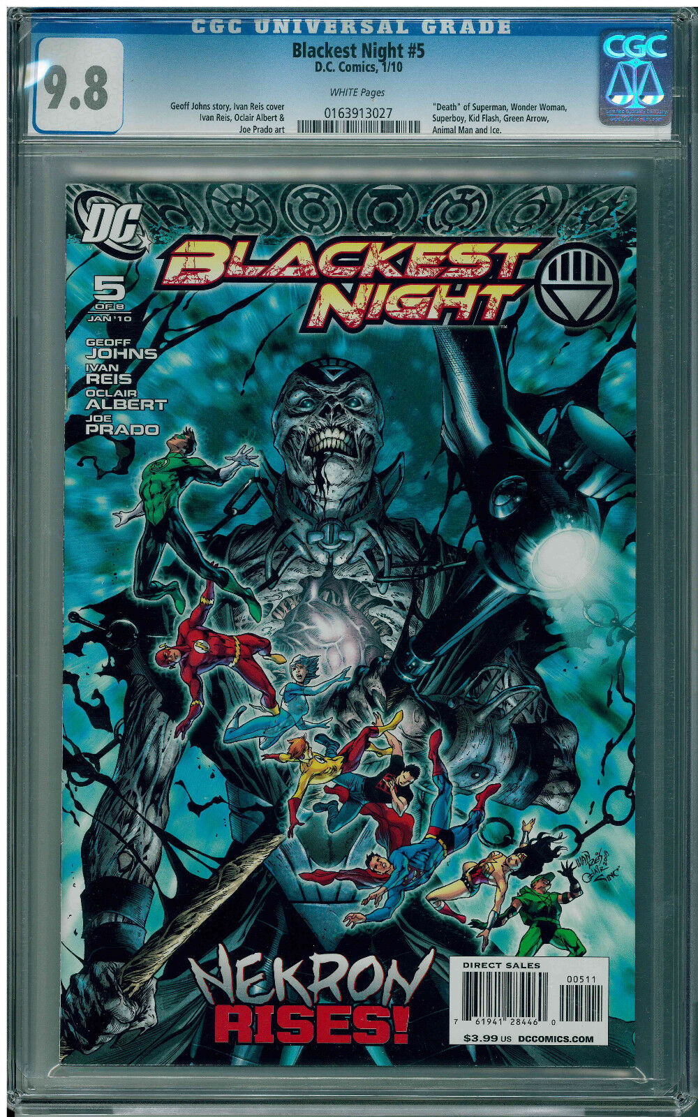 Blackest Night #5 (2010) CGC 9.8