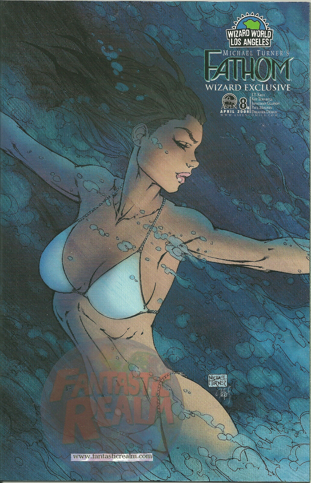 Fathom #8B WIZARD WORLD LOS ANGELS ASPEN COMICS