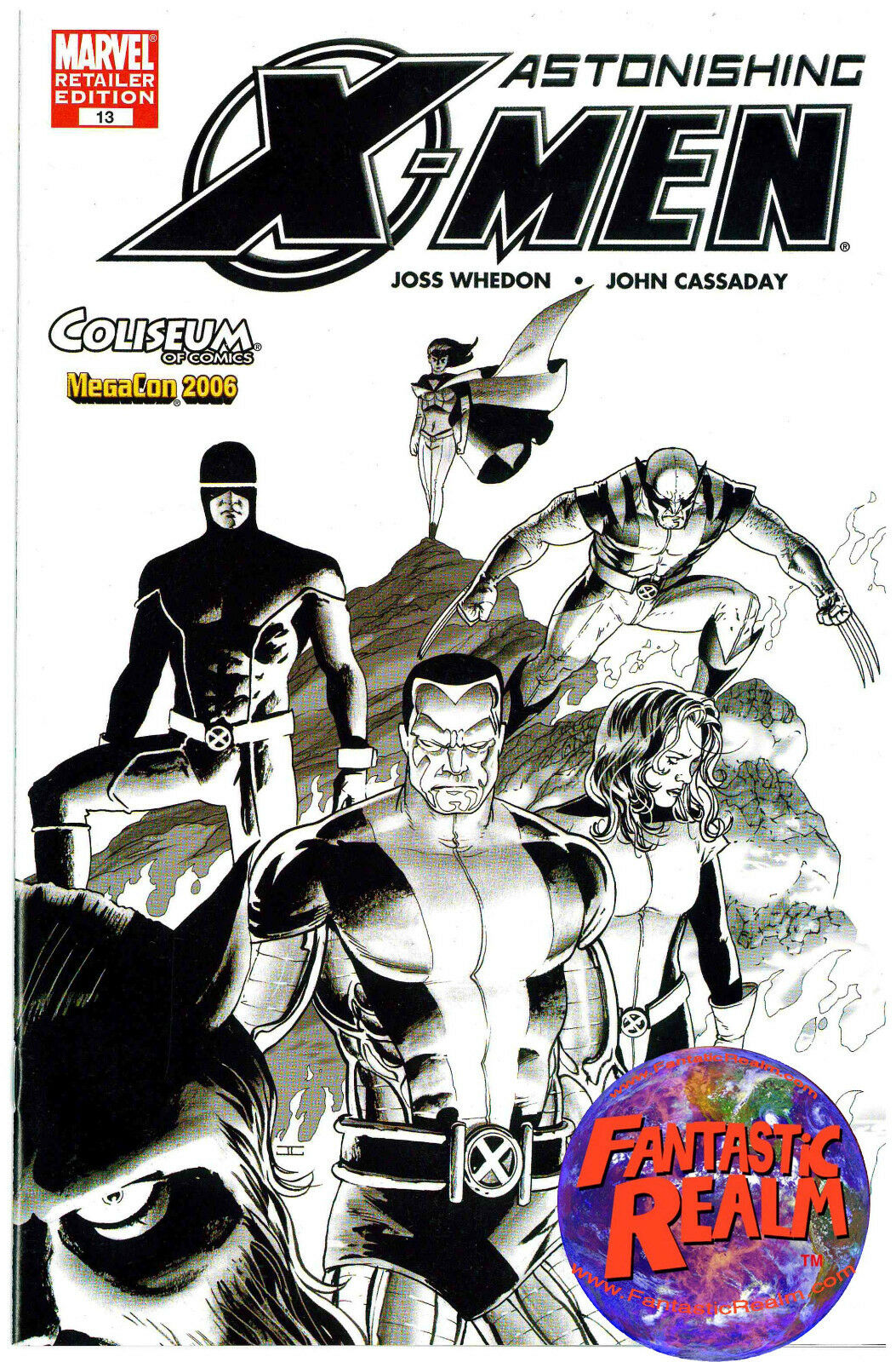 MARVEL ASTONISHING X-MEN #13 MEGACON 2006 JOHN CASSADAY SKETCH VARIANT