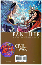 Load image into Gallery viewer, BLACK PANTHER #25 ASPEN MICHAEL TURNER VARIANT & 25 CIVIL WAR, 26 & 27 MARVEL
