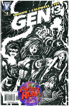 Load image into Gallery viewer, GEN 13 #1 SKETCH, 2, 3 BLACK AND WHITE & 4 DC WILDSTORM COMICS