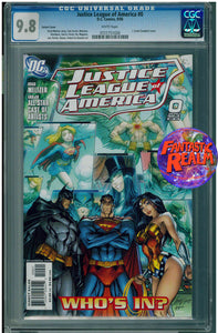 JUSTICE LEAGUE OF AMERICA #0 J. SCOTT CAMPBELL COVER CGC 9.8 DC COMICS