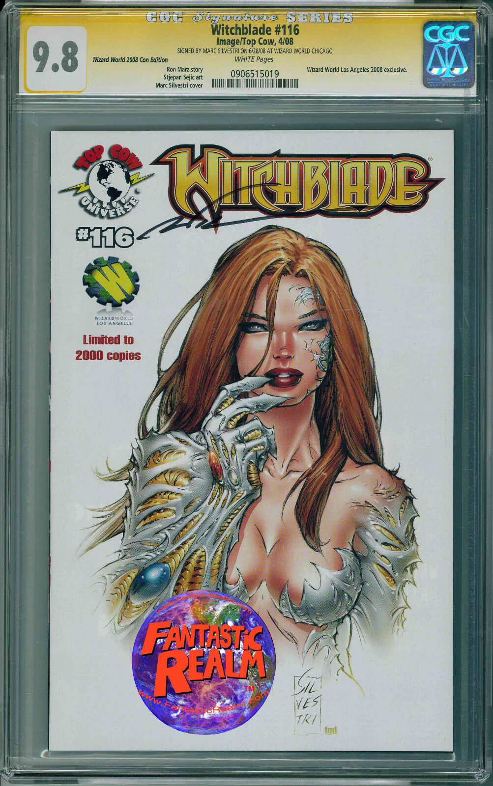 WITCHBLADE #116 WW CHICAGO CC SIGNED SILVESTRI CGC 9.8 IMAGE TOP COW COMICS