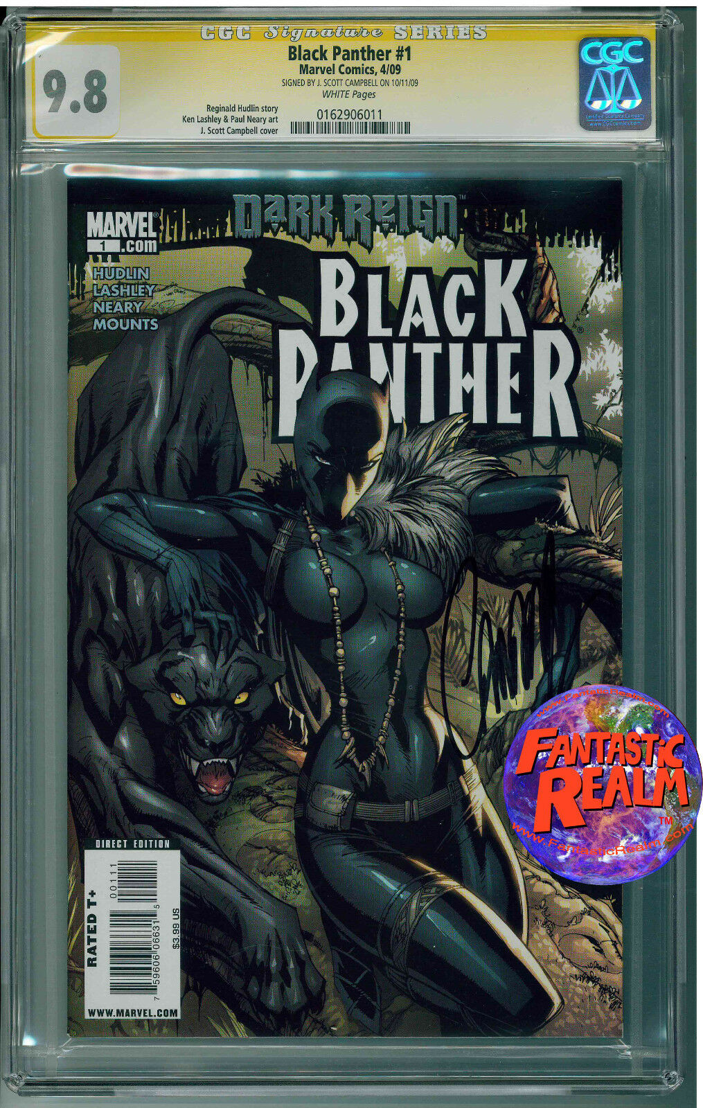 DARK REIGN BLACK PANTHER #1 CGC 9.8 SIGNATURE J. SCOTT CAMPBELL MARVEL COMICS