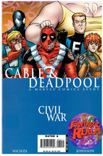 Load image into Gallery viewer, CABLE AND DEADPOOL: CIVIL WAR MARVEL COMIC BOOK SET ISSUES 30, 31 & 32
