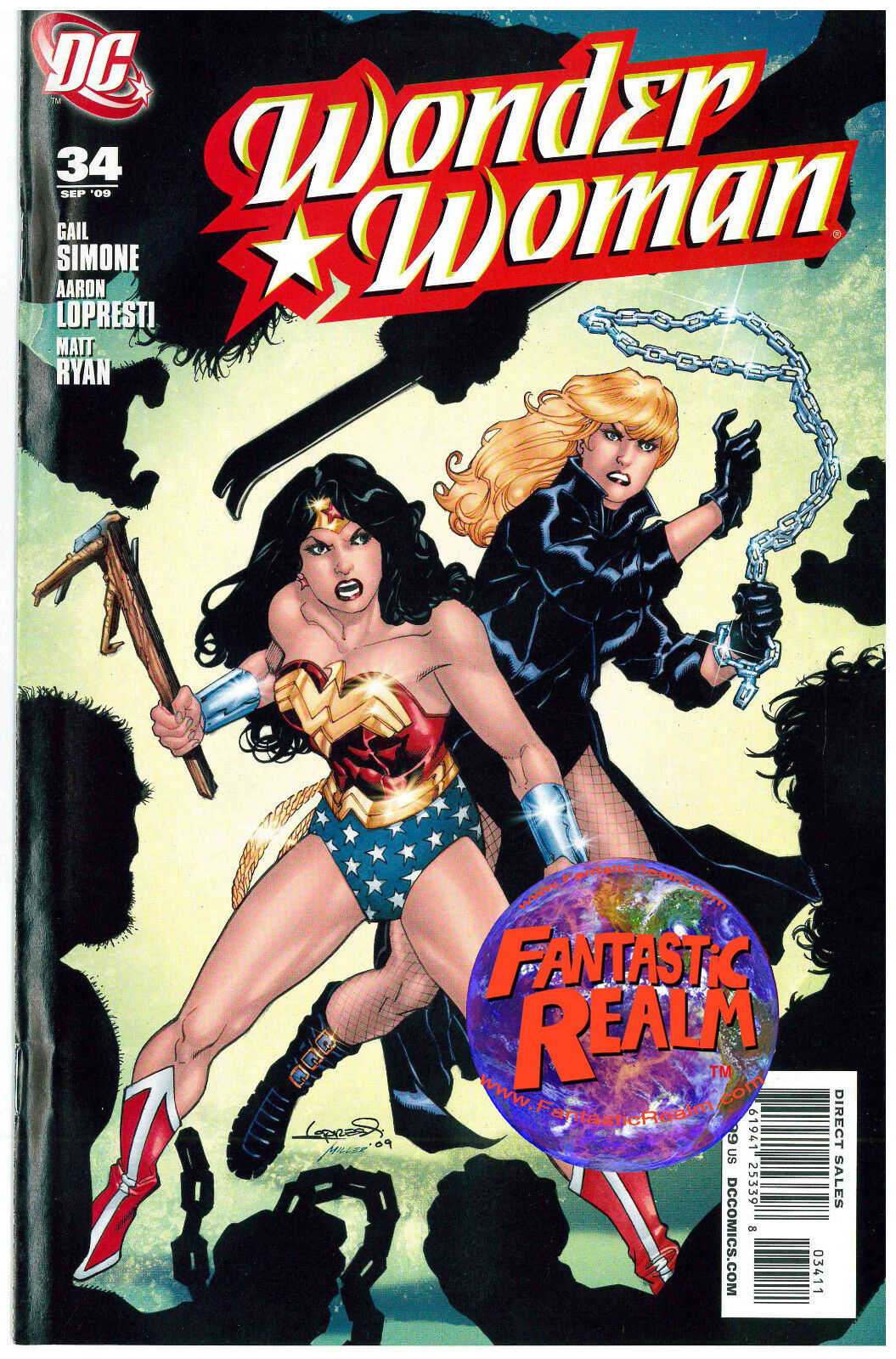 WONDER WOMAN #34 & 35 LOPRESTI BLACK CANARY DC COMICS