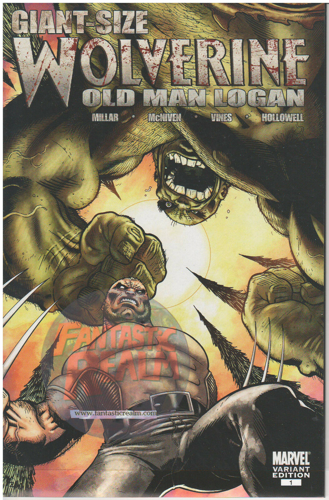 WOLVERINE: OLD MAN LOGAN #1 ED MCGUINNESS VARIANT GIANT SIZE MARVEL COMICS