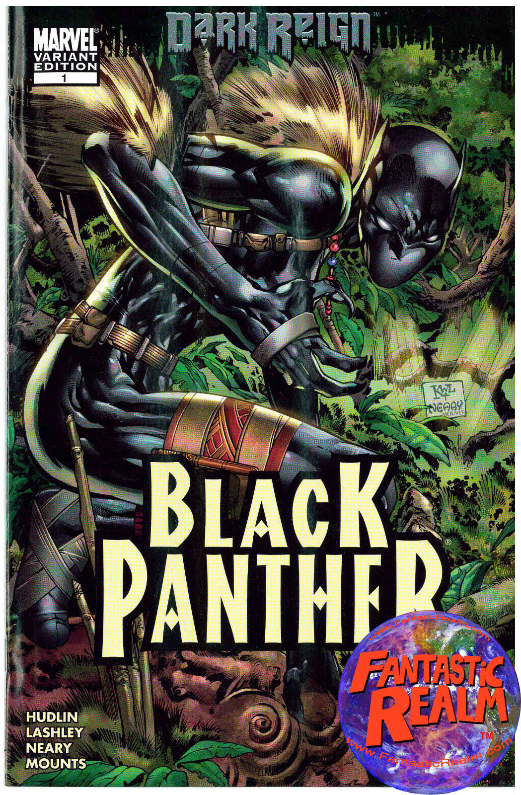 DARK REIGN BLACK PANTHER #1 KEN LASHLEY VARIANT EDITION MARVEL COMICS