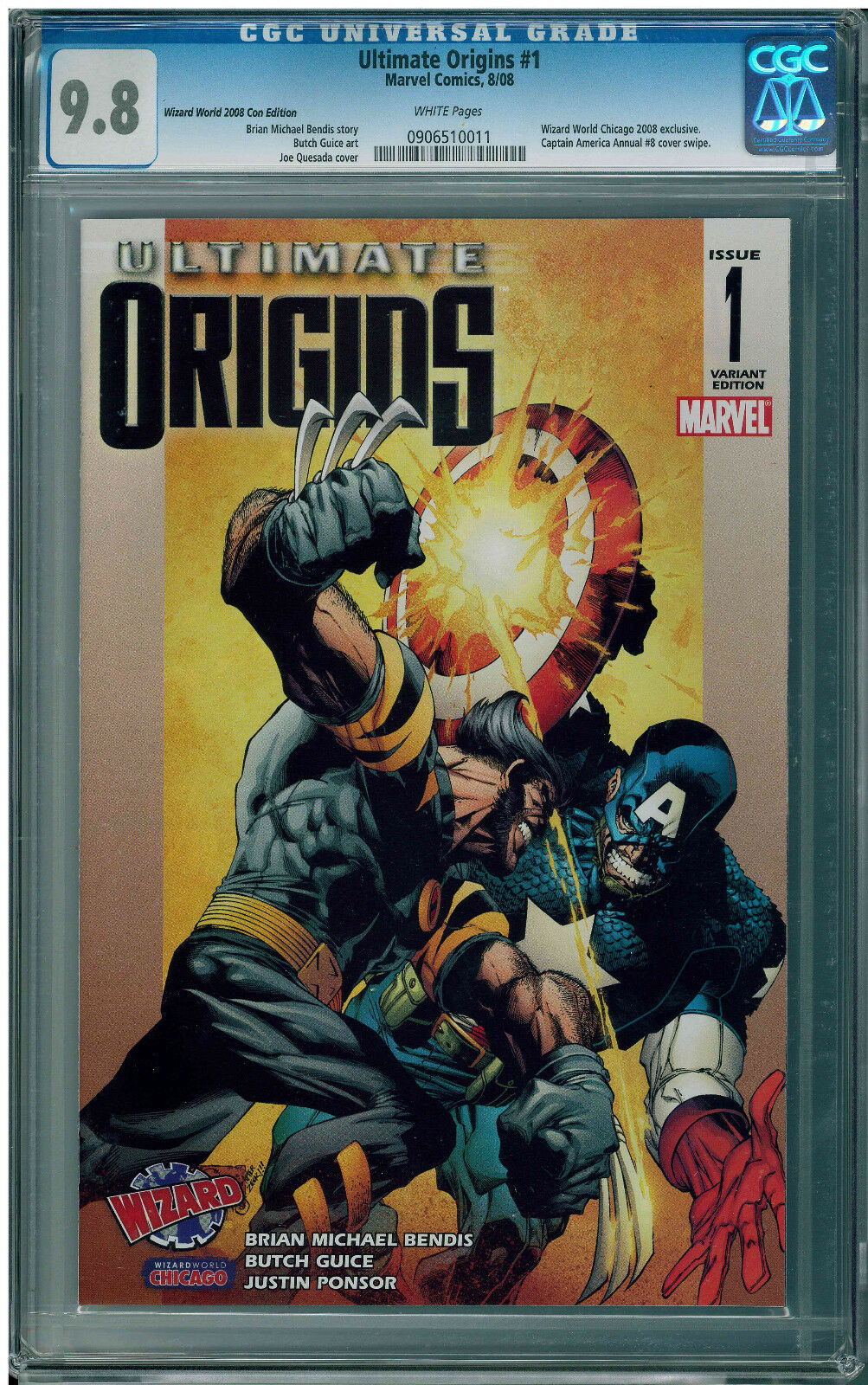 ULTIMATE ORIGINS Marvel #1 Variant Wizard World CGC 9.8