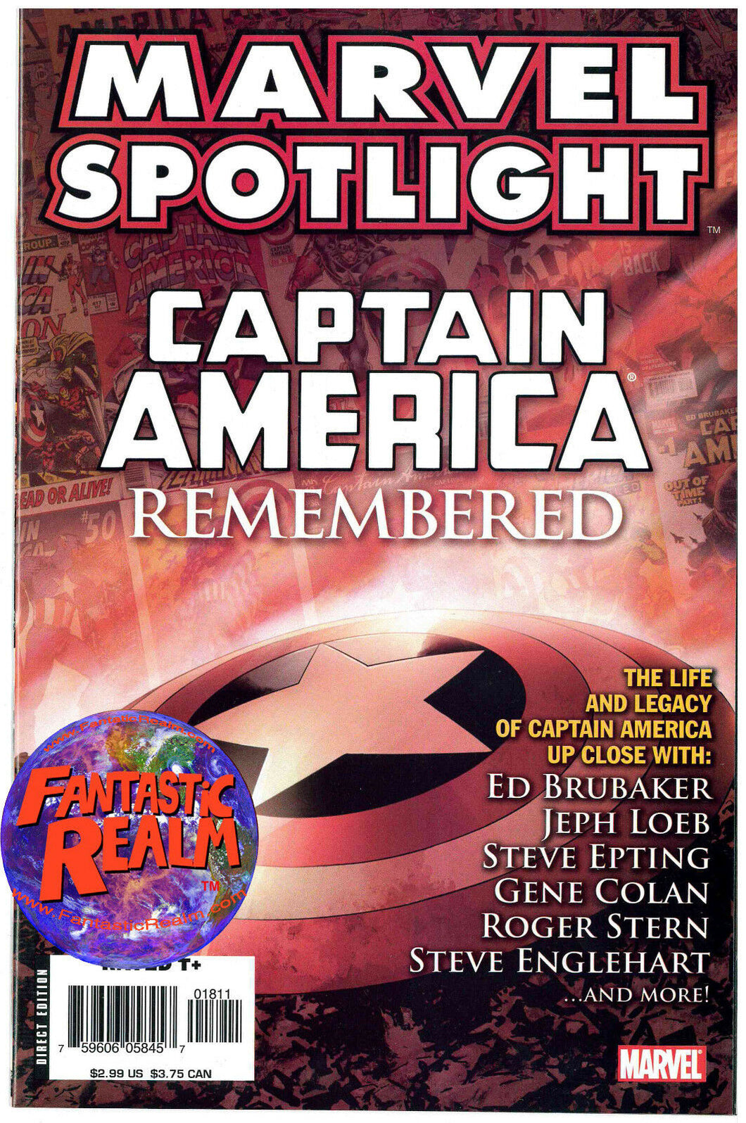 MARVEL SPOTLIGHT: CAPTAIN AMERICA REMEMBERED MARVEL COMICS