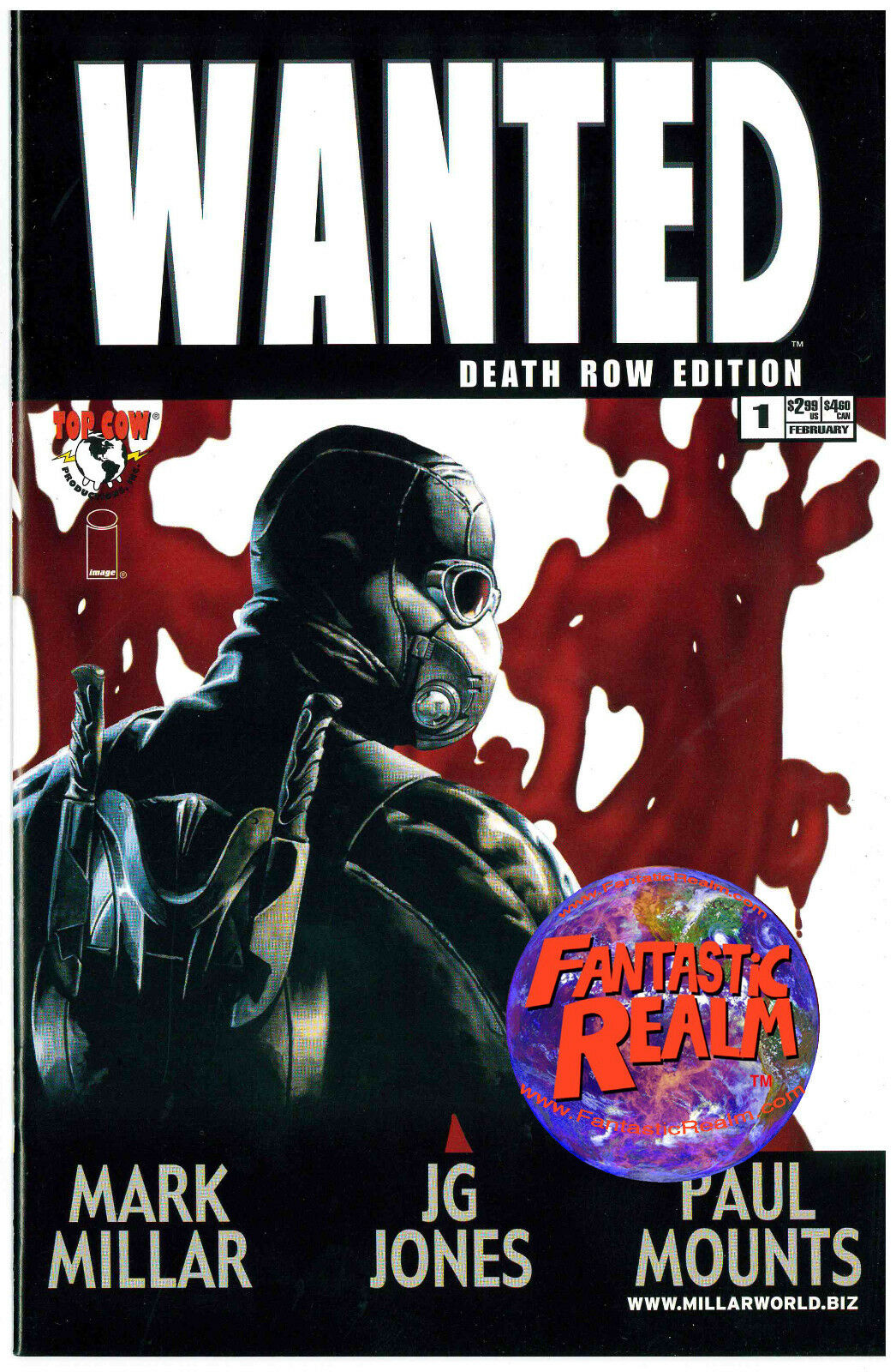 WANTED #1 DEATH ROW EDITION J.G. JONES COVER IMAGE TOP COW COMICS