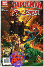 Load image into Gallery viewer, SPIDERMAN RED SONJA #1 & 4 OF 5 VENOM TURNER COVER MARVEL COMICS DYNAMITE