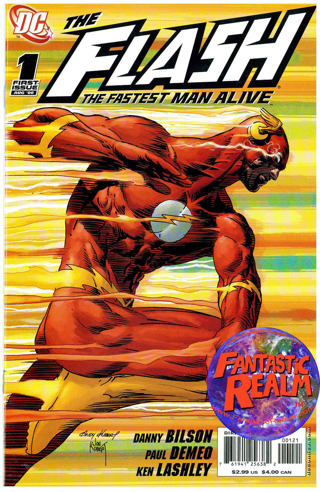 THE FLASH: THE FASTEST MAN ALIVE #1 ANDY KUBERT VARIANT 1:10 (2006) DC COMICS