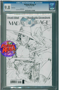 MADAME MIRAGE #1 FIRST LOOK SKETCH VARIANT CGC 9.8 IMAGE TOP COW COMICS
