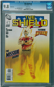The Shield #1 J.G. Jones Inferno Variant Cover CGC 9.8