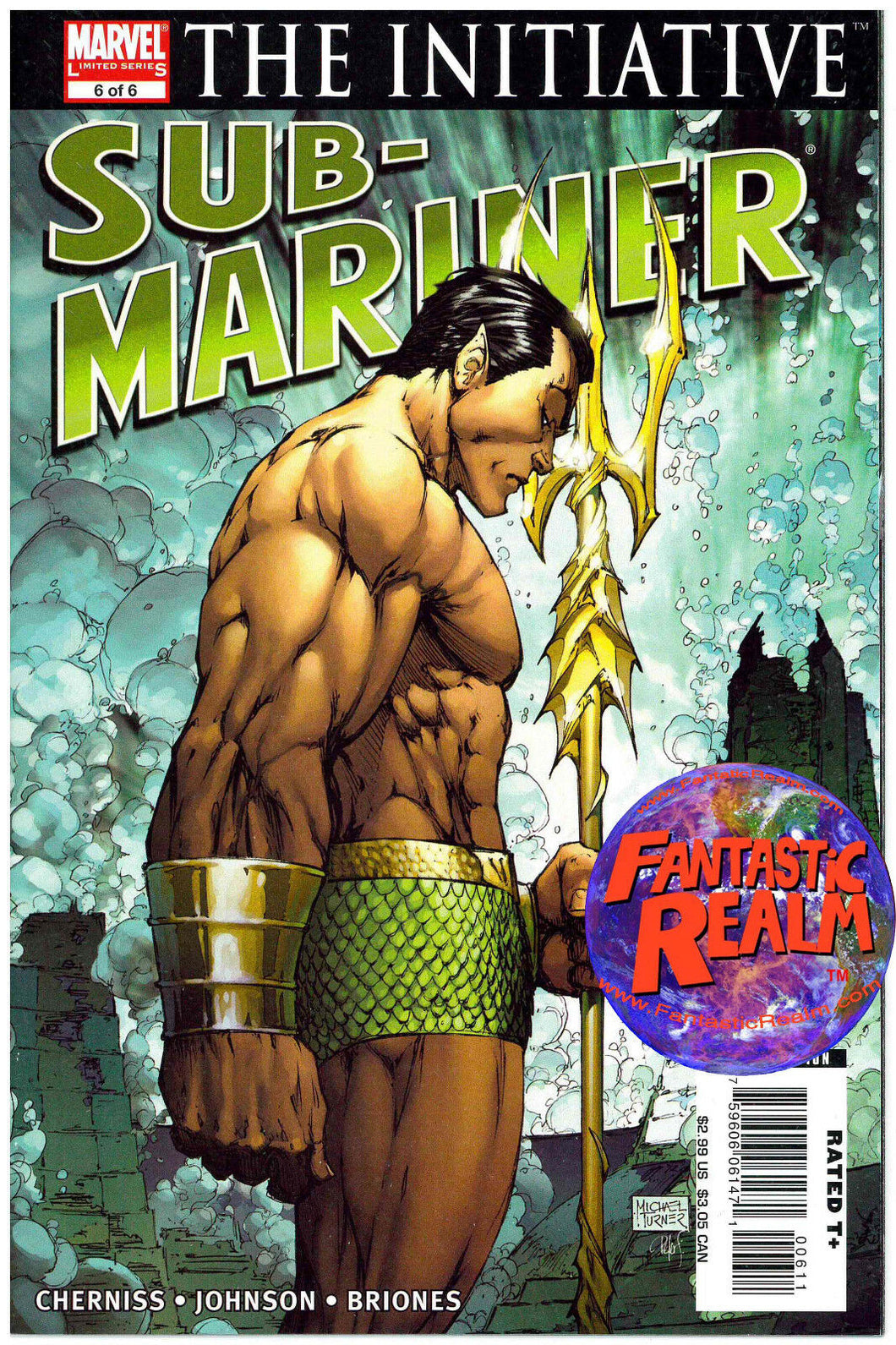 SUB-MARINER: THE INITIATIVE 6 OF 6 TURNER COVER MARVEL COMICS