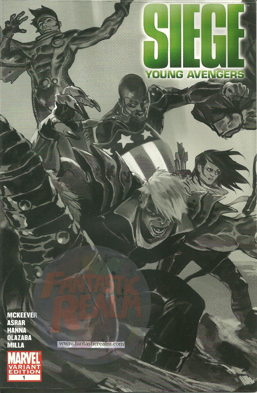 SIEGE: YOUNG AVENGERS #1 VARIANT (2010) MARVEL Comic Book