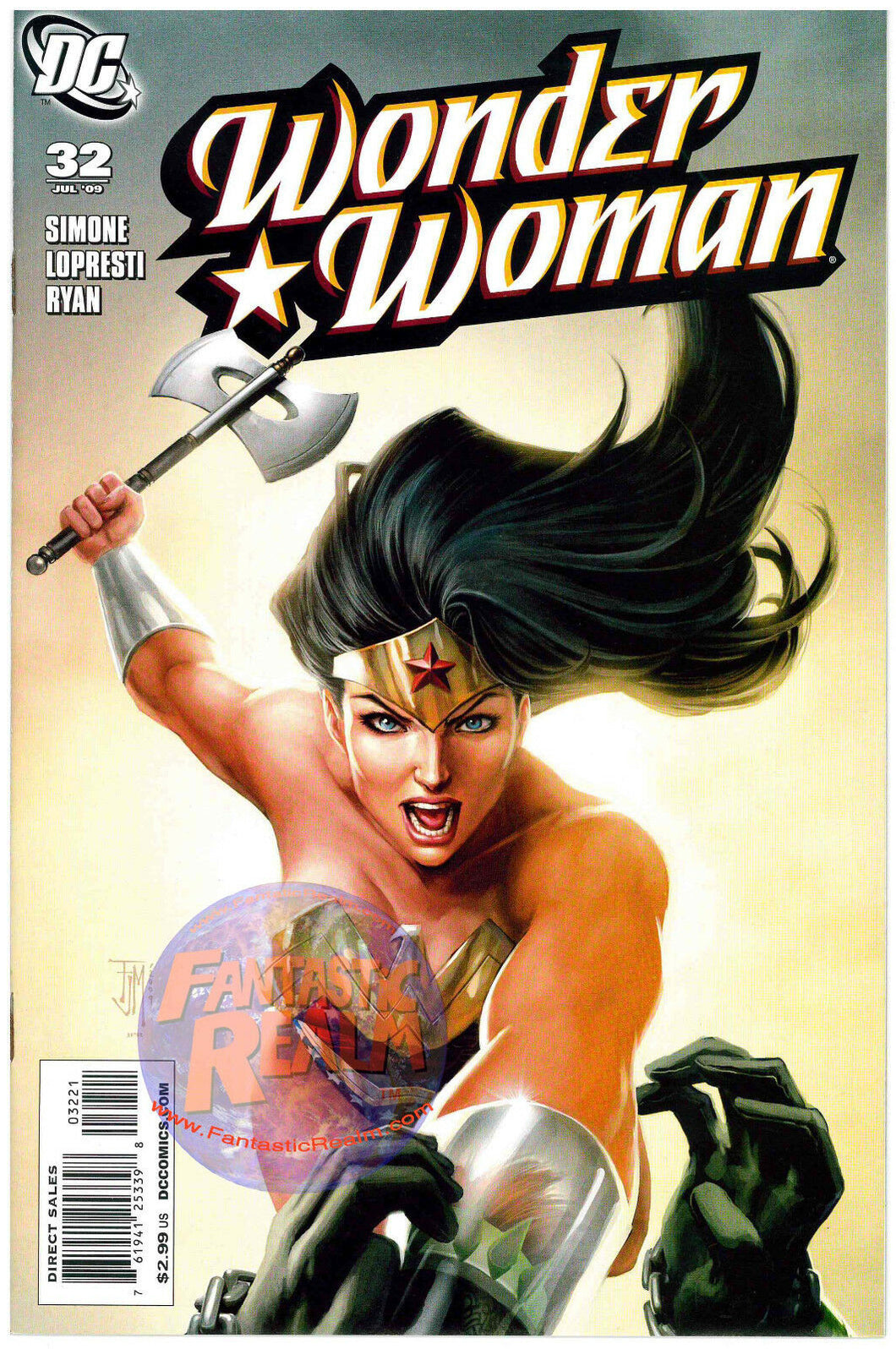 WONDER WOMAN #32 FRANCIS MANAPUL VARIANT COVER (2009) DC COMICS