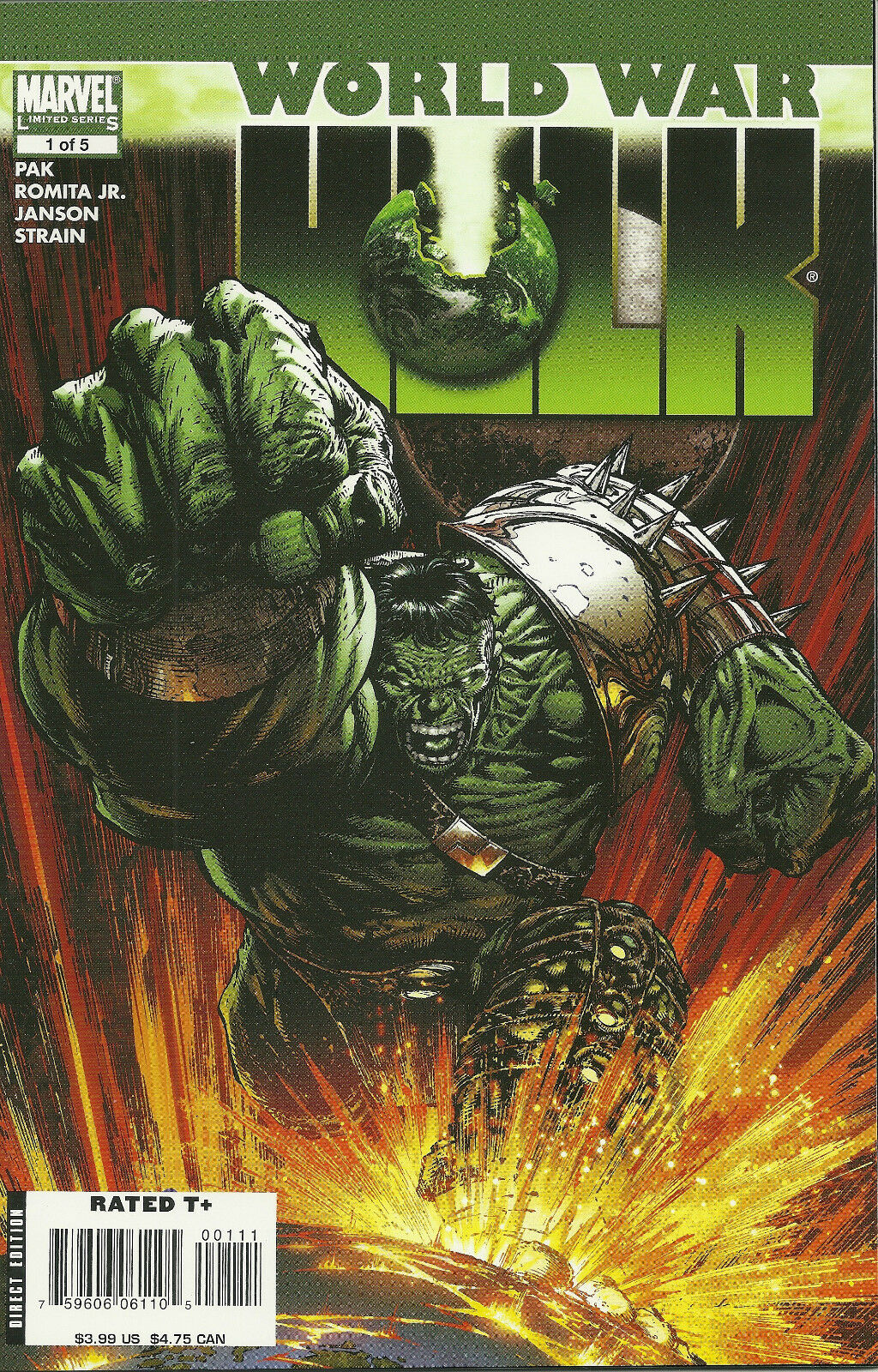 WORLD WAR HULK  #1 (2007) MARVEL COMICS