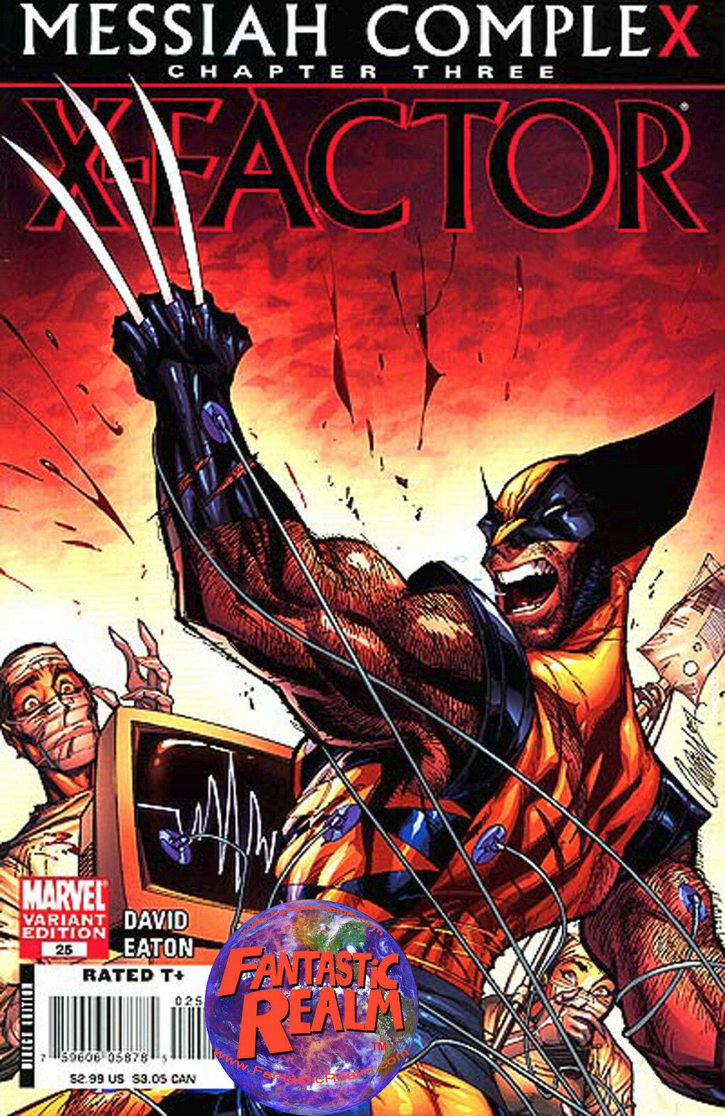 X-FACTOR #25: MESSIAH COMPLEX CHAPTER 3 CAMPBELL VARIANT (2008) MARVEL COMICS