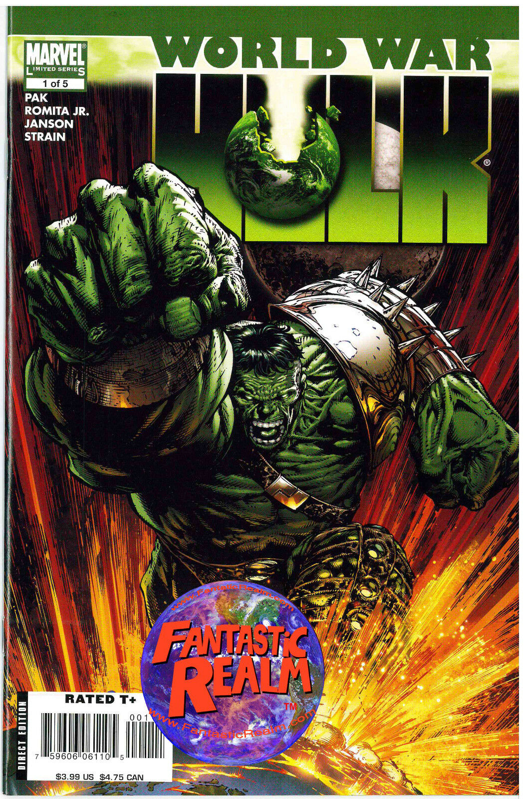 WORLD WAR HULK #1, 2, 3, 4 & 5A (FULL SET) (2007) MARVEL COMICS