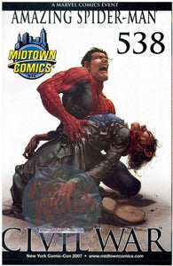 Amazing Spider-man #538 CIVIL WAR 2007 Midtown Comics NYC Variant