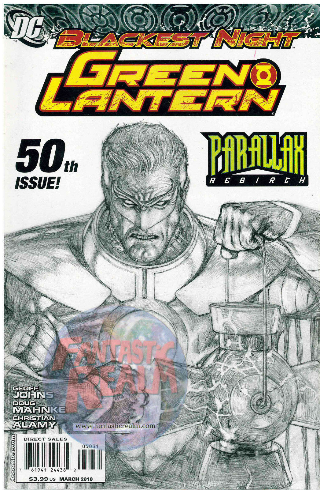 Blackest Night Green Lantern #50 sketch variant (2010) DC Comics