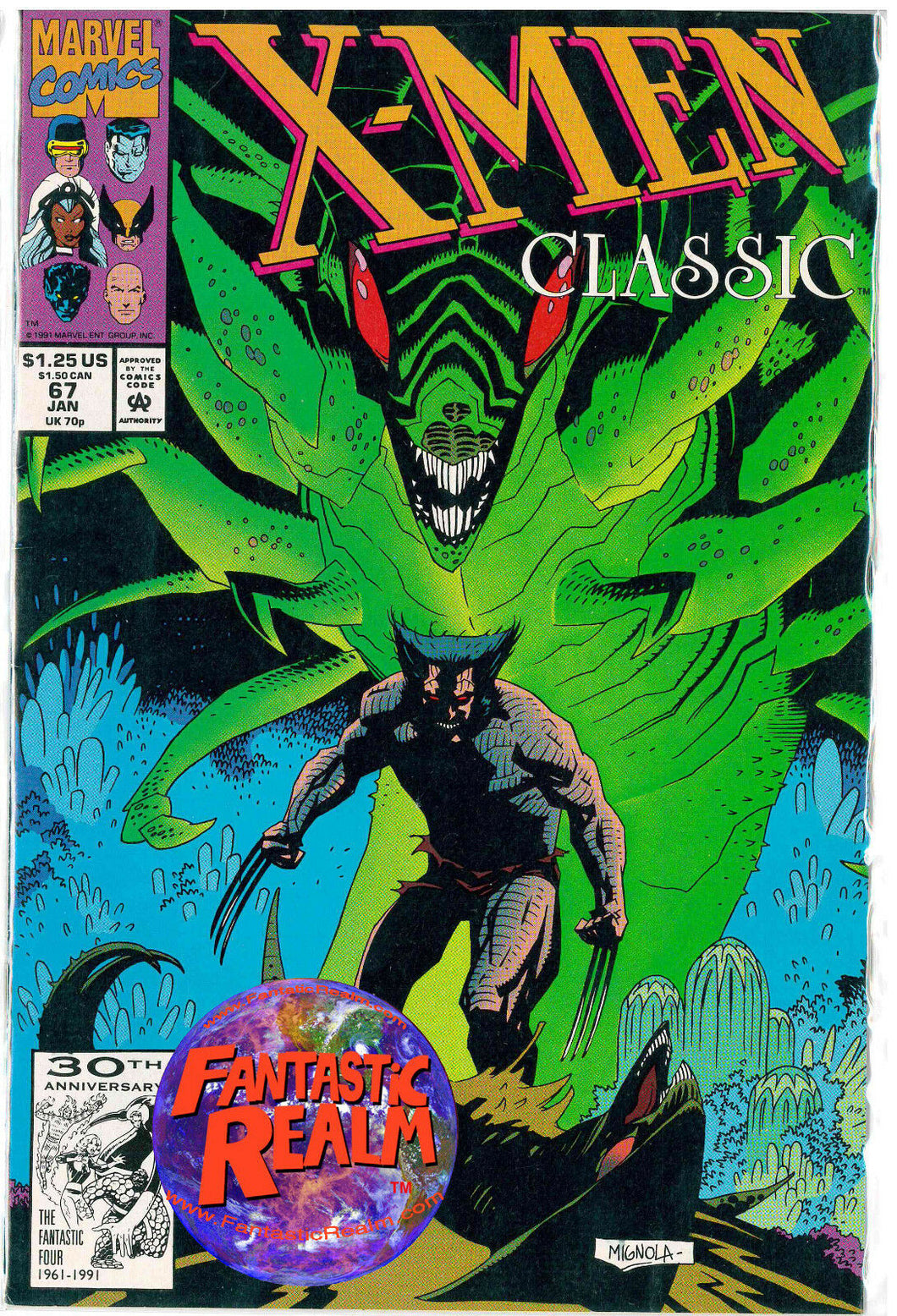 X-MEN CLASSIC #67 ( JAN 1991)  MARVEL COMICS
