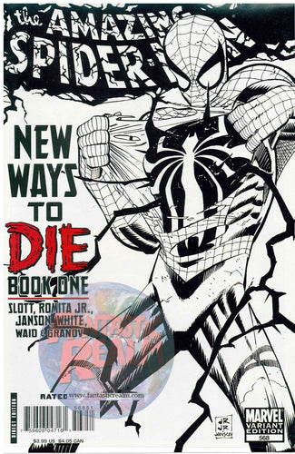 AMAZING SPIDER-MAN #568 ROMITA 1:100 SKETCH VARIANT MARVEL COMICS