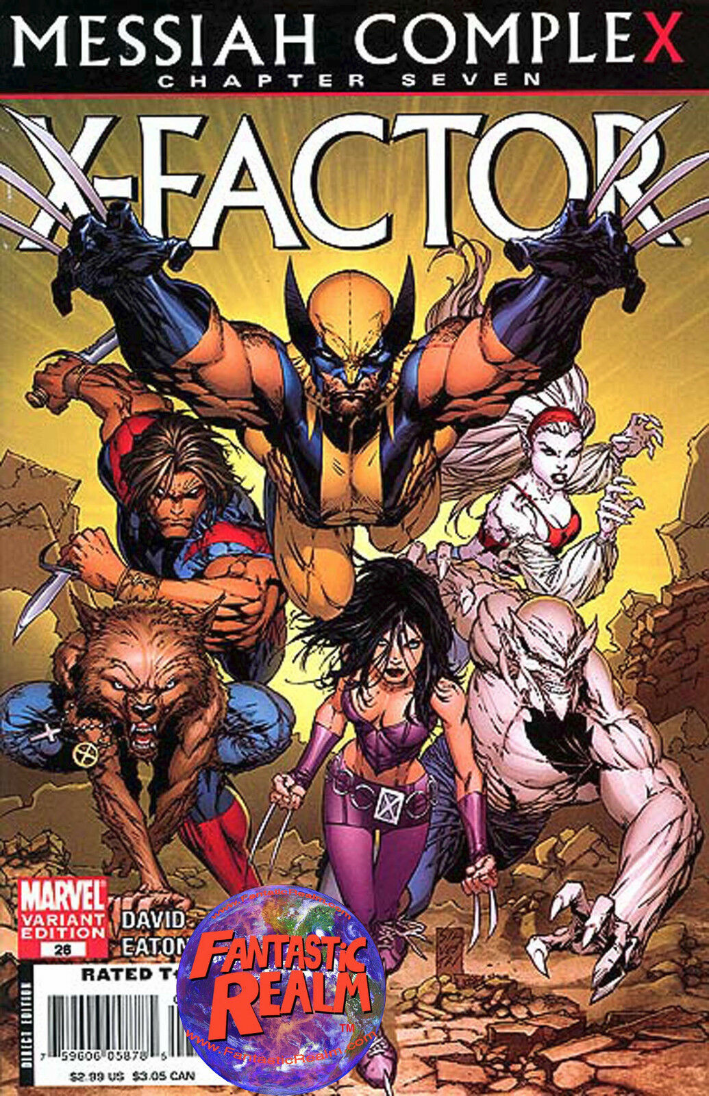 X-FACTOR #26:MESSIAH COMPLEX (2009) X-23 WOLVERINE VARIANT MARVEL COMICS