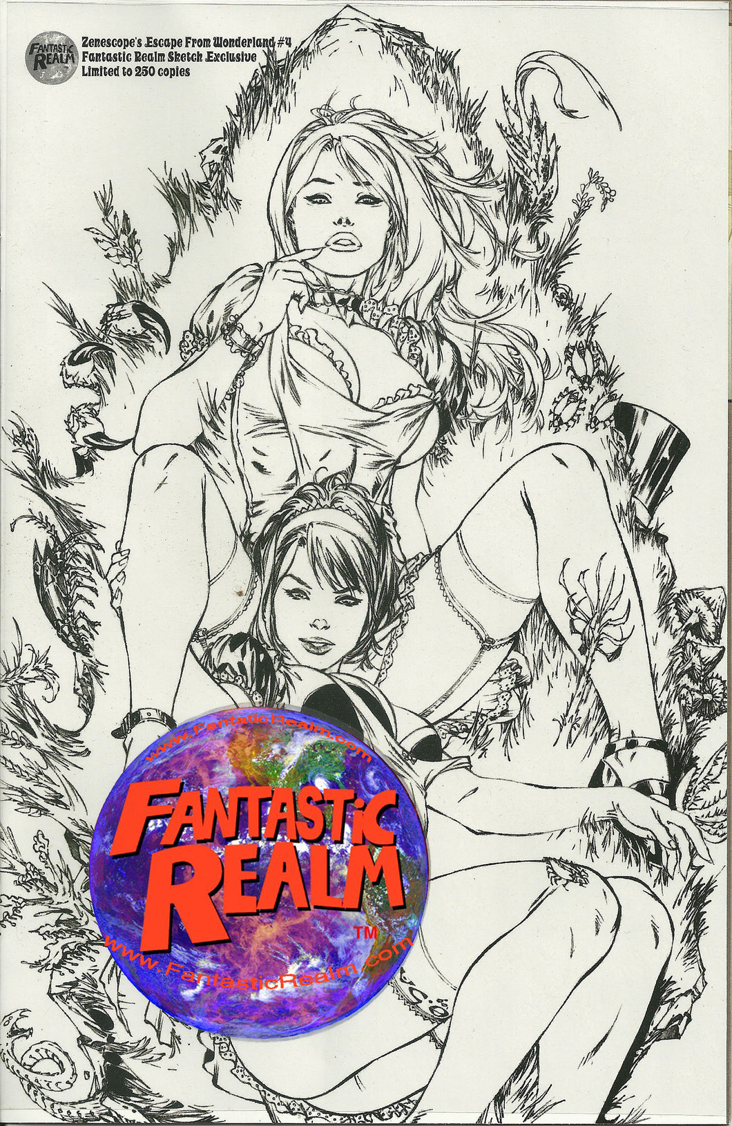 GRIMM FAIRY TALES: ESCAPE FROM WONDERLAND #4 FANTASTIC REALM SKETCH