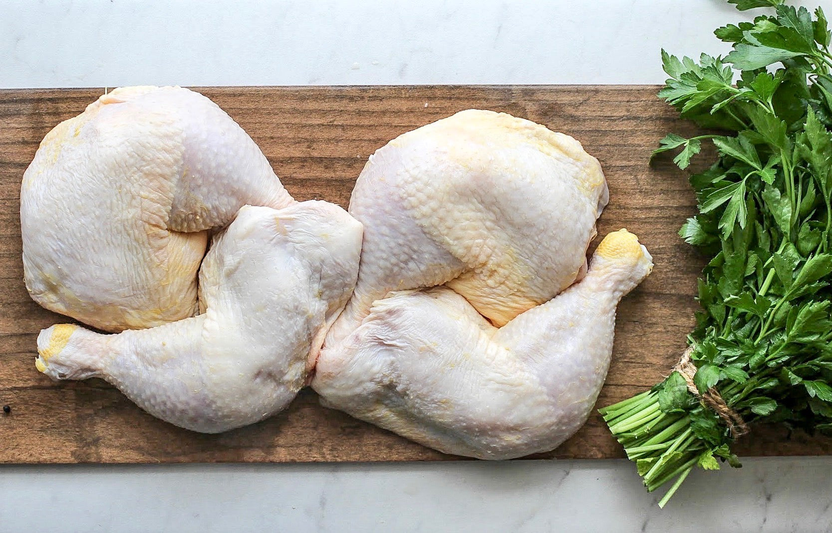 Alabama Organic Pastured Chicken Legs and Thighs. NON-GMO, NO Antibiotic, Soy Free Chicken