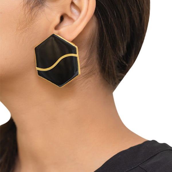 Mellifera Earrings- Black
